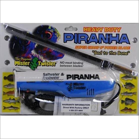 HEAVY DUTY PIRANHA ELECTRIC KNIFE WITH 9 POWER BLA